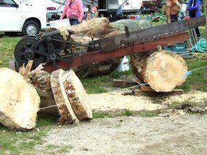 Antique gas saw