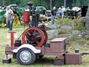 Antique vertical engine