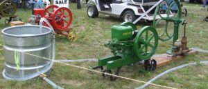 John Deere Antique gas engine pumping water